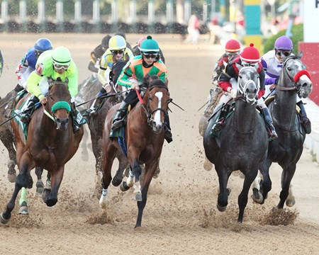 Classic Empire wins the 2017 Arkansas Derby