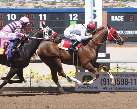 Geaux Dangerous maiden win at Sunland Park on April 18, 2017