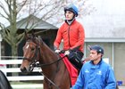 Valadorna heads to the track to train at Keeneland in early spring