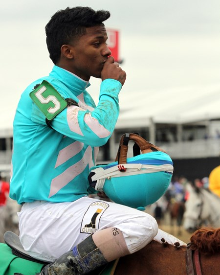 Ricardo Santana Jr. after winning the 31st Running of the Maryland Sprint Stakes (G3) at Pimlico on May 20, 2017