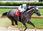 Bird Song wins the May 5 Alysheba Stakes at Churchill Downs