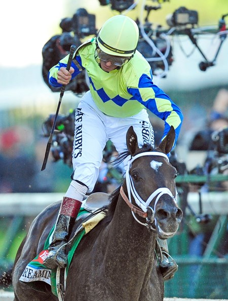 Always Dreaming (Yellow) John Velazquez up, wins the 143rd Kentucky Derby
