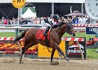 Recruiting Ready wins the Chick Lang Stakes at Pimlico Race Course