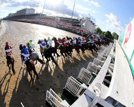 The start of the 143rd Running of the Kentucky Derby at Churchill Downs on May 6, 2017