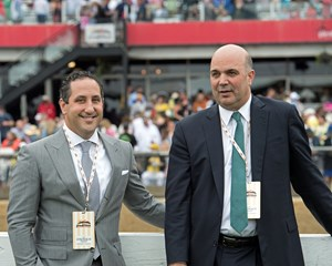 New York Thoroughbred Breeders Executive Director Jeffrey Cannizzo and New York Racing Association senior vice president of racing operations Martin Panza