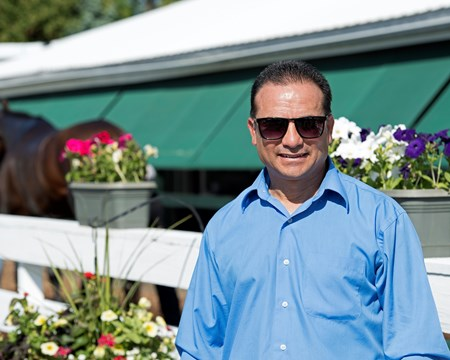 Trainer Miguel Hernandez Preakness contenders at Pimlico.