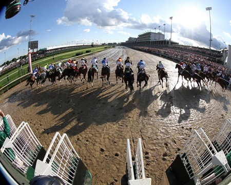 The start of the 143rd Running of the Kentucky Derby at Churchill Downs on May 6, 2017.