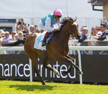 Enable gets black-type in her third start as she wins the Cheshire Oaks at Chester