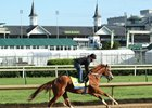 Hence breezes beneath the Twin Spires