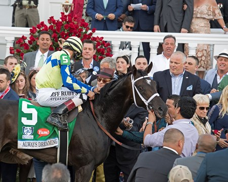Always Dreaming with John Velazquez wins the. Kentucky Derby (G1)