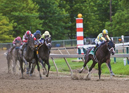 Preakness final turn images. Photo credit: Maggie Kimmitt