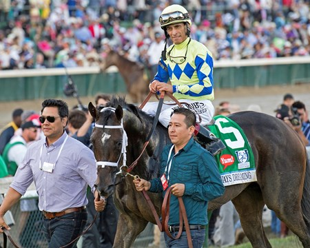 Always Dreaming with John Velazquez wins the 2017 Kentucky Derby (G1)