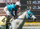 Arms Runner and jockey Norberto Arroyo Jr. take the Desert Code Stakes