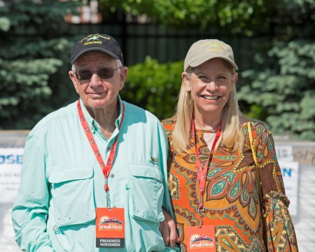 Tom and Sandy McKenna, owners of Conquest Mo Money Preakness contenders at Pimlico.