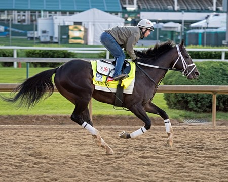 Girvin with Rosie Napravnik Derby and Oaks contenders in the morning at Churchill Downs  May 3, 2017 Churchill Downs in Louisville, Ky.