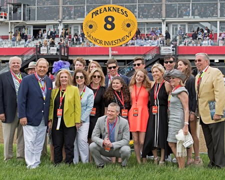 Senior Investment owners, Fern Circle, with Paul Fireman (front row, left, blue jacket/white trousers) May 20, 2017 Baltimore in Pimlico, Maryland.