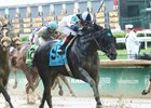 Limousine Liberal splashes home in the Churchill Downs Stakes