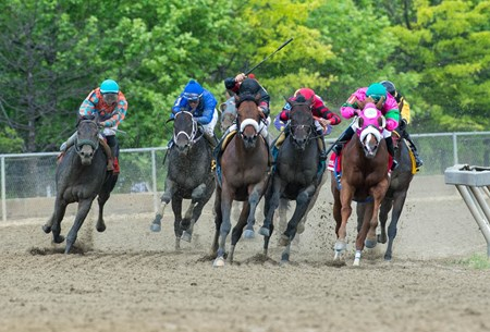 Shaman Ghost in route to victory in the Pimlico Special on Black Eyed Susan Day