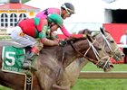 Lights of Medina (5) falls just short in the Black-Eyed Susan Stakes at Pimlico Race Course