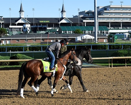 Irap Derby and Oaks contenders in the morning at Churchill Downs  May 2, 2017 Churchill Downs in Louisville, Ky.