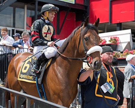 Shaman Ghost wins the 2017 Pimlico Special