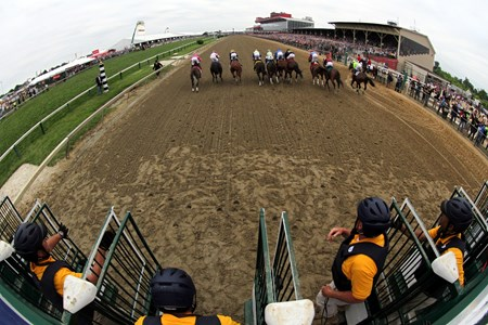 The start of the 142nd Running of the Preakness Stakes at Pimlico on May 20, 2017.