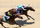 Paulassilverlining won the Humana Distaff over Finest City and will now tackle the Honorable Miss Handicap