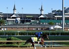 Thunder Snow on the track May 2 at Churchill Downs