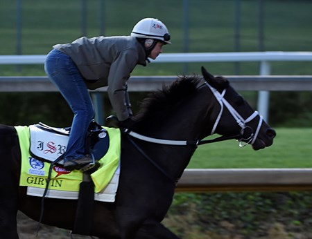 Girvin gallops at Churchill Downs May 3, 2017 in Louisville, KY.