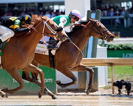 Paulassilverlining and Jose Ortiz edge out Finest City and Mike Smith in the Humana Distaff
