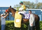 Richie Scherer with 2004 Mervin H. Muniz Jr. Memorial Handicap winner Mystery Giver