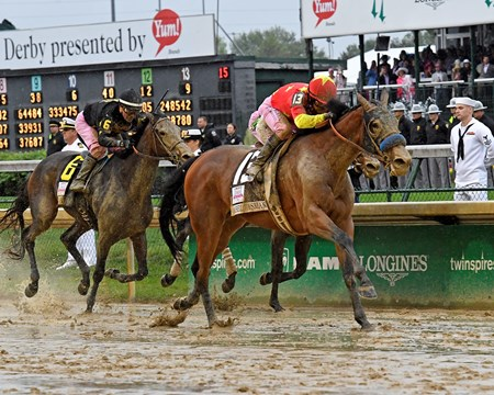 Abel Tasman with Mike Smith wins the Kentucky Oaks (G1) Derby and Oaks contenders in the morning at Churchill Downbs  May 5, 2017 Churchill Downs in Louisville, Ky.