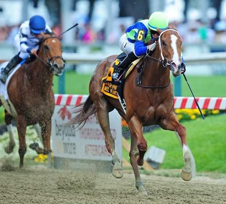 Vertical Oak springs the mild upset in the Miss Preakness Stakes (G3)