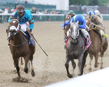 Buy Sell Hold wins the 2017 Kentucky Juvenile Stakes