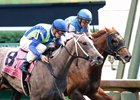 Buy Sell Hold (outside) wins the Kentucky Juvenile Stakes in May