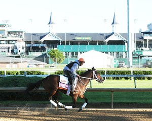 Miss Sky Warrior prepping for last year's Kentucky Oaks