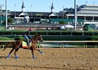 Irish War Cry gallops beneath the Twin Spires