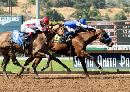 Faypien wins the 2017 Angels Flight Stakes
