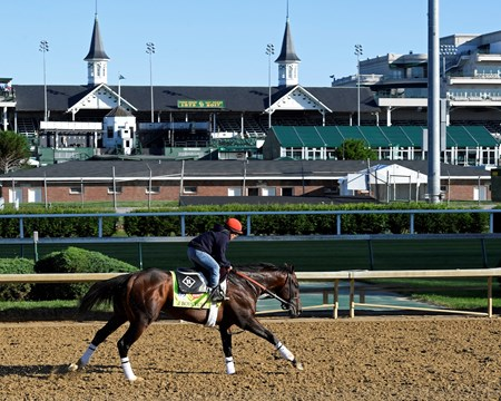 J Boys Echo Derby and Oaks contenders in the morning at Churchill Downs  May 2, 2017 Churchill Downs in Louisville, Ky.
