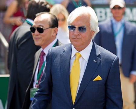 Bob Baffert Abel Tasman with Mike Smith wins the Acorn Stakes (G1) at Belmont Park  on June 10, 2017 in Elmont, New York.