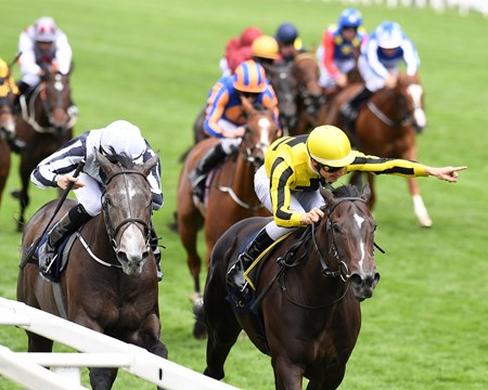 Different League and Antoine Hamelin win the Group 3 Albany Stakes, Royal Ascot, Ascot, UK, 6/23/17
