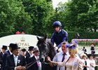 Caravaggio and connections after their win in the Commonwealth Cup at Royal Ascot