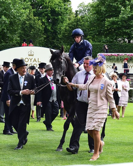 Caravaggio; Ryan Moore win the Group 1 Commonwealth Cup; Royal Ascot; Ascot; UK; 6/23/17