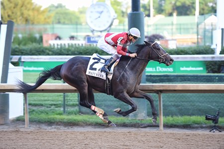 McCraken is suspended midair as he wins the Matt Win Stakes