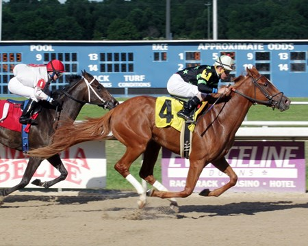 Feisty Embrace - Maiden Win, Evangeline Downs, June 16, 2017 First winner for Brethren