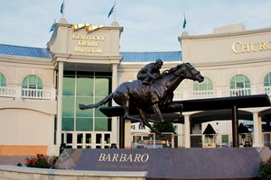 Front of the Kentucky Derby Museum