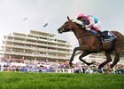 Enable and Frankie Dettori win the Investec Oaks at Epsom for trainer John Gosden June 2
