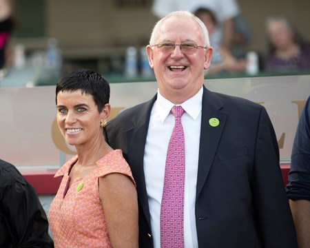 Always Dreaming co-breeders Mike and Mary Ryan Stakes Races at Churchill Downs on June 17, 2017 in Louisville, Kentucky.