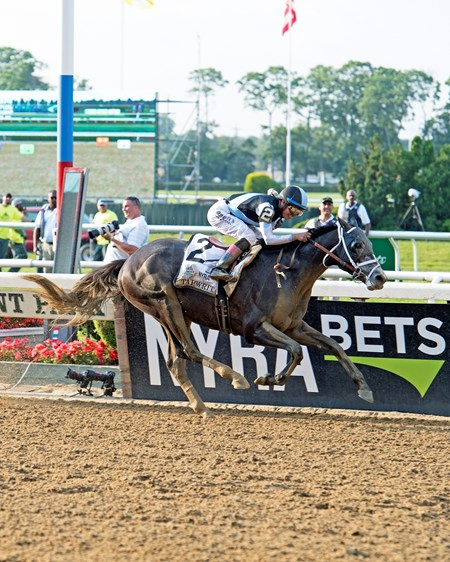 Tapwrit with Jose Ortiz wins the Belmont Stakes Presented by NYRA Bets (G1) at Belmont Park  on June 10, 2017 in Elmont, New York.