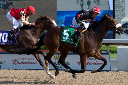 Holy Helena scores in the Woodbine Oaks